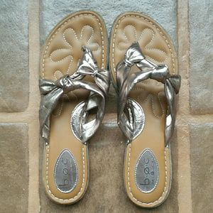 BOC 11M Bronze Metallic Knots Flip Flop Sandals